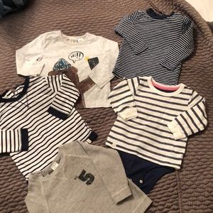Other - Set of long sleeve tops for baby boy 9-12m ZARA HM